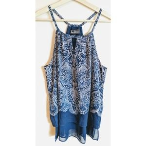 Sam Edelman Blue Paisely Print Tank Top - S